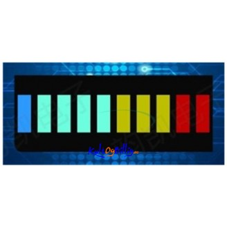 2 stk. LED graf multi-farge