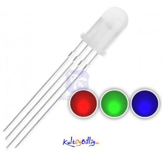 20 stk. 5mm RGB LED Diode - rød grønn blå