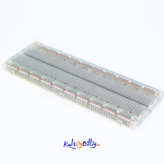 830 Point Solderless PCB Breadboard Bread Board - koblingsbrett