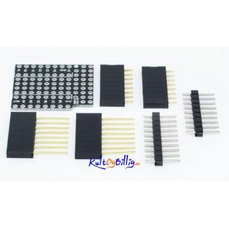 Prototype kort Shield For WeMos D1 Mini dobbelsidig - ProtoBoard Shield Double Sided