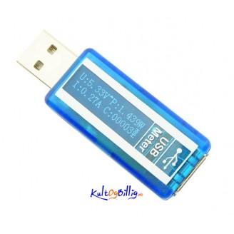 USB Tester Voltmeter Ammeter OLED Display 3.7-9.9V 0-3A USB 4 5 bit Voltage Current Power Meter
