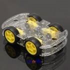 """4WD """"Smart Robot-Car"""" Chassis Kit med motorer og hjul For Arduino"""