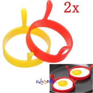 Silikon-form til speil-egg (to stk.)