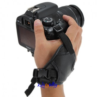 Leather Hand Strap Grip For Nikon Canon Pentax DC8