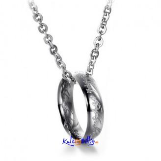Lord Of The Rings - Pendant Ring med kjede i Titanium Stål