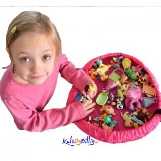 Praktisk nylon-pose for oppbevaring av leker