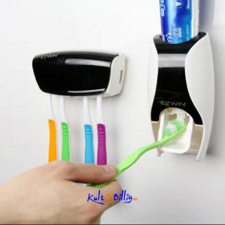 Automatisk Tannkrem Dispenser med Tannbørste Holder