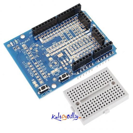 Prototype shield kit med breadboard for arduino