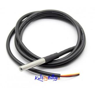 Vanntett DS18b20 Temperatur-sensor Probe