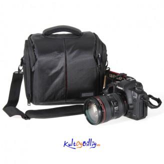 Kamera Skulder-bag - Veske m/ regn- og støt-beskyttelse for Kamera