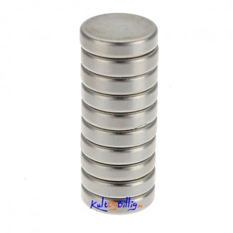 10 stk. superkraftige Neodymium magneter 12mm x 3mm
