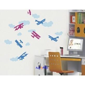 Flymotiv - veggdekaler