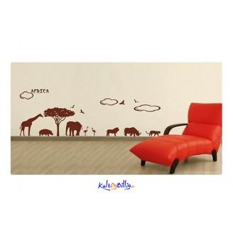 Dyrene i Afrika - veggdekaler