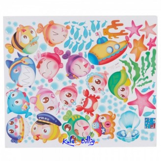 Happy Fish Children' s Room Cartoon Decorative Stickers