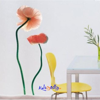 Romantic Flowers Pattern Graffiti Removable Wallpaper