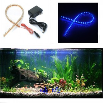 Akvarium lys - 48 LED (blått eller hvitt lys)