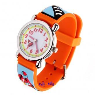 3D Quartz klokke med gummi-rem for barn. Motorsykkel Cross motiv (Velg farge)