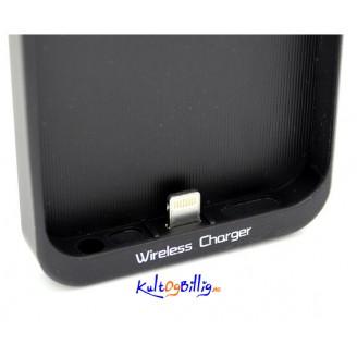 Qi Induktivt lade-deksel for trådløs lading. For iPhone 5.  Sort eller hvit farge.