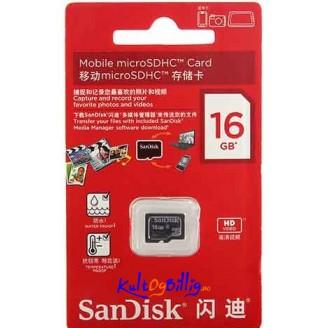 SanDisk microSDHC Minnekort 16GB / Class 4
