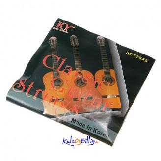 Sett med 6 Nylon Strenger for klassisk gitar 1m