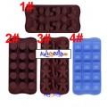 Silikonformer for sjokolade, kaker, marsipan, is-terninger osv. Velg mellom flere typer.