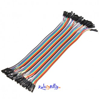 40 stk. 20cm Hunn til Hunn Jumper kabel (for bl.a. Arduino)