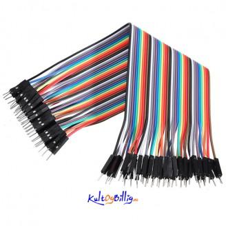 40 stk. 20cm Han til Han Jumper kabel (for bl.a. Arduino)