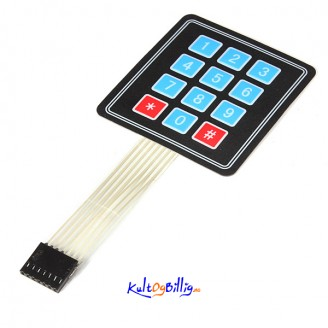"""12 Tasters """"Membrane Switch"""" keypad For Arduino"""