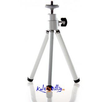 Aluminium Tripod for Digitale kameraer 18 cm fult trekt ut.