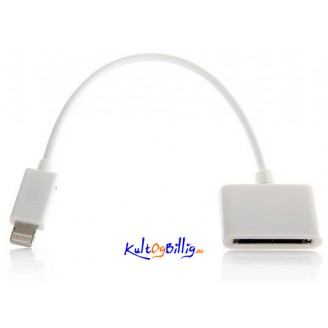 Lightning 8-pin til 30-pin Adapter Kabel for Apple iDevices
