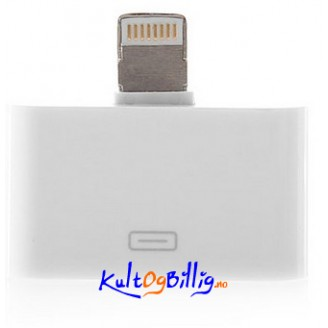 Lightning 8-pin til 30-pin Adapter for Apple iDevices