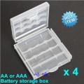 Oppbevaringsboks for AA AAA Batterier (6-pakning)