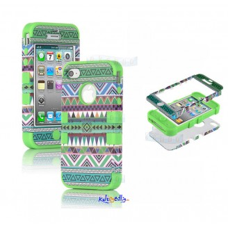 "iPhone 5 3-dels ""Hybrid High Impact"" Deksel Aztec Tribal V"