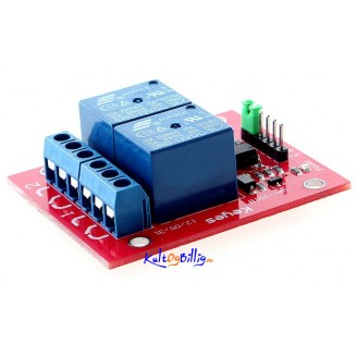 2-kanals Relé 12V (Keyes) - 2 channel Relay